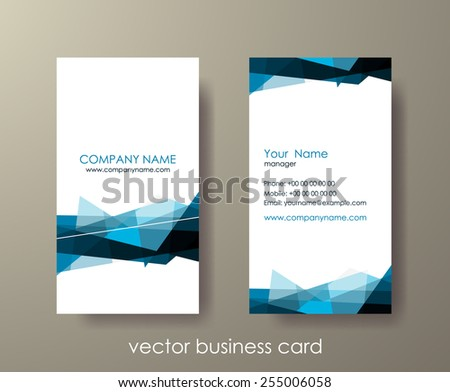 Set of light vertical abstract business cards with mosaic on grey background. Vector illustration. - stock vector