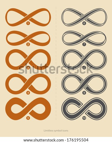Set of limitless icons - stock vector