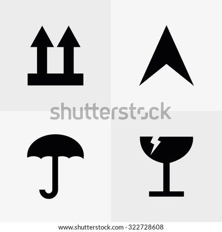 Set of logistic & delivery icons on white backgrounds - stock vector