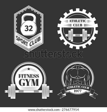 Set of Logo for sport athletic club, excellent vector illustration, EPS 10 - stock vector