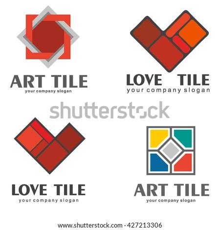 Set Logos Ceramic Tiles Set 2 Stock Vector 427213306 - Shutterstock