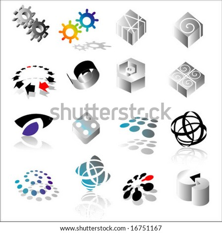 set of logotypes - stock vector