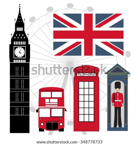 Set of London Attractions