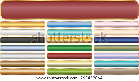 set of long banners - design elements - stock vector