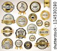 Set of luxury badges and stickers - stock vector