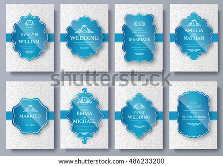 Set of Luxury colors artistic pages set with logo brochure template. Vintage art identity, floral, magazine. Traditional, Islam, Arabic, Indian. Decorative retro greeting card or invitation design