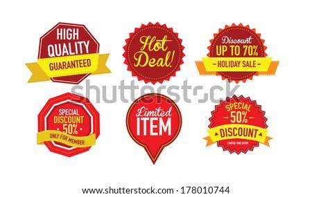 Set of luxury Sale labels. Vector Illustration  - stock vector