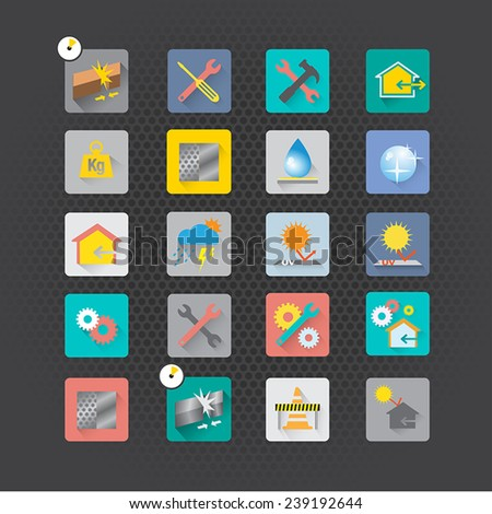 Set of maintenance icons vector design
