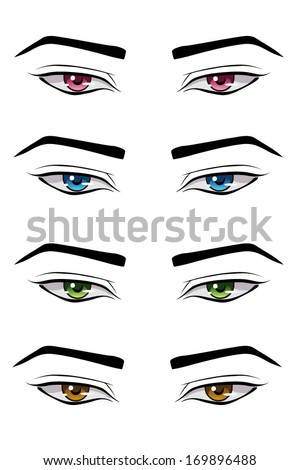 Swell Anime Eyes Stock Photos Royalty Free Images Amp Vectors Shutterstock Hairstyles For Men Maxibearus