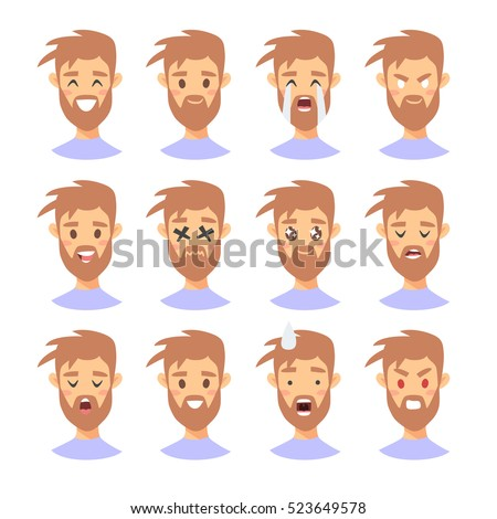 Printables Emotion Faces emotions faces stock photos royalty free images vectors cartoon style emotion icons isolated boys avatars with different