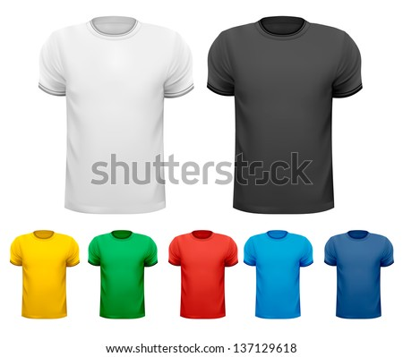 Set of male T-Shirts. Vector. - stock vector