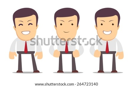 Set of manager character in different interactive poses. Stock vector illustration Eps10 file. - stock vector