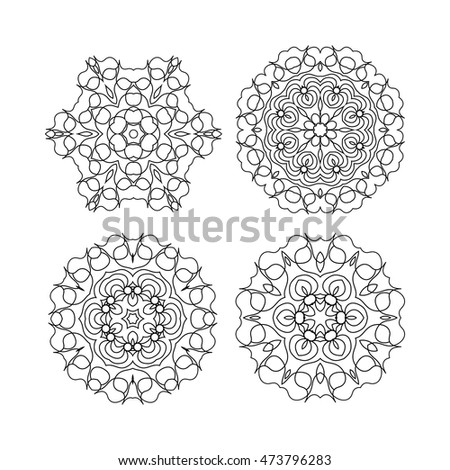 Set of mandalas for coloring book