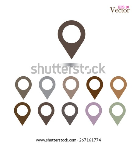 set of   map pointers.map pointer.map pointer sign.vector illustration.    - stock vector