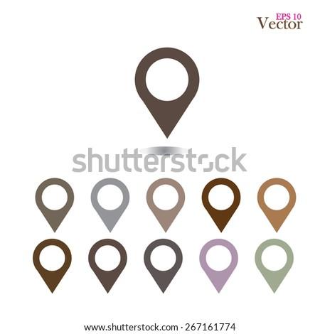 set of   map pointers.map pointer.map pointer sign.vector illustration.    - stock vector