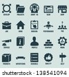 Set of marketing internet and service icons - part 2 - vector icons - stock vector
