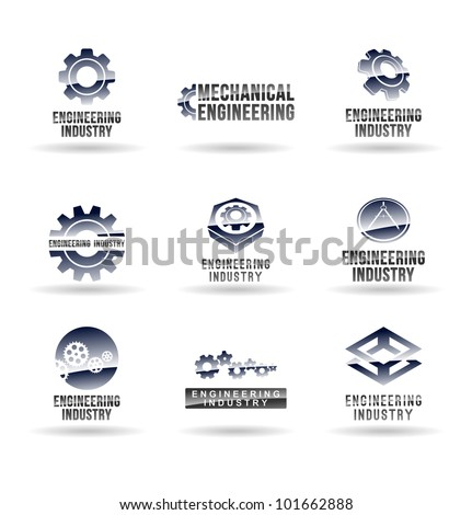 Set of mechanical engineering icons (set 1). Mechanic icon. - stock vector