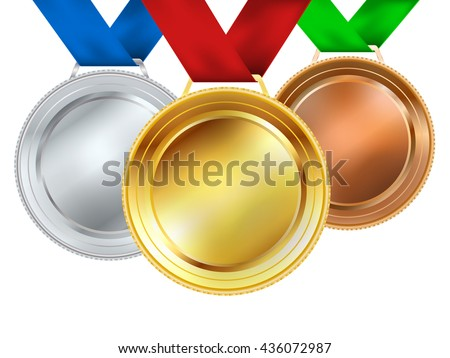 set of medals on white. vector illustration