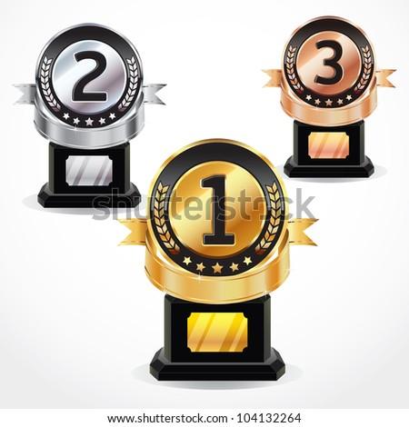 Set of Medals. vector illustration - stock vector
