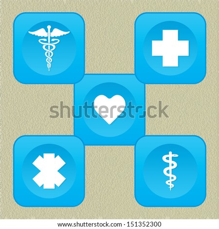Set of medical banners or website headers. EPS 10. - stock vector