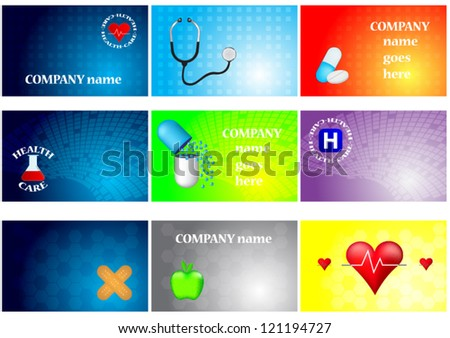 Set of medical cards