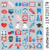 Set of medical icons for design - vector icons - stock vector