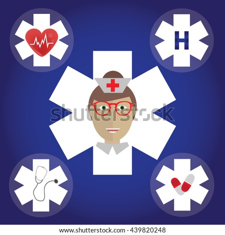 Set of medical icons. Medical Icon. Set medical flat icons. - stock vector
