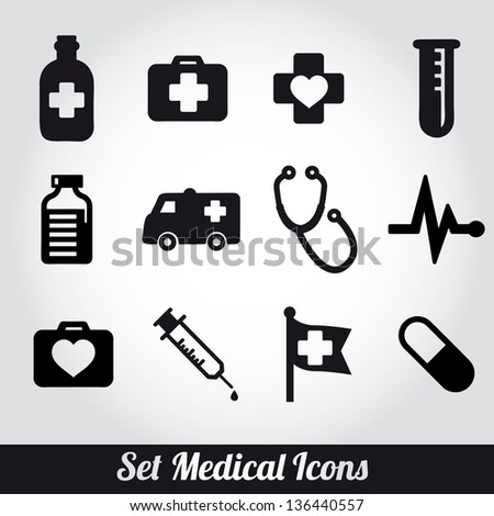 set of medical icons -Vector illustration