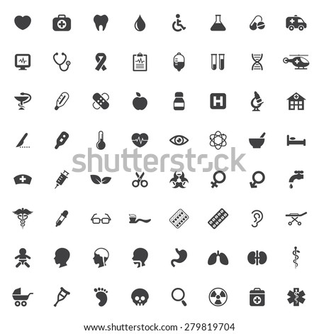 Set of medical vector icons - stock vector