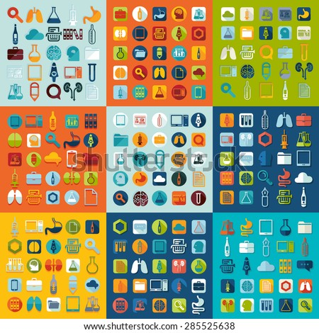 Set of medicine icons - stock vector