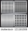 Set of metal fenders in vector - stock vector