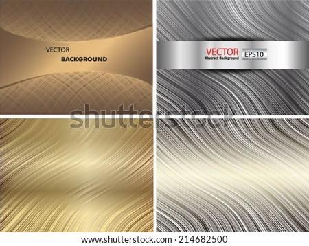 Set of metal grid - stock vector