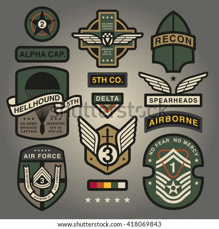 Set Of Military and Army Patches and Badges 4