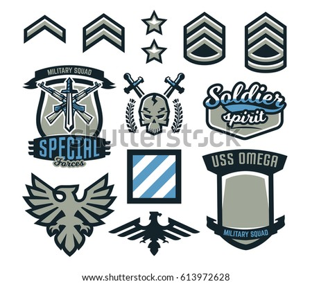 military patch template - patches templates stock images royalty free images