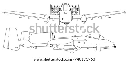 set of military jet fighter silhouettes image of aircraft in contour drawing lines