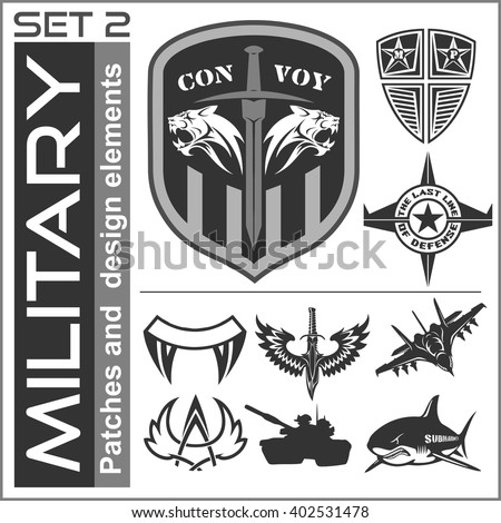 military patch template army logo stock images royalty free images vectors