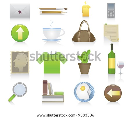 set of miscellaneous icons - stock vector
