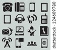 Set of mobile devices - vector icons - stock vector
