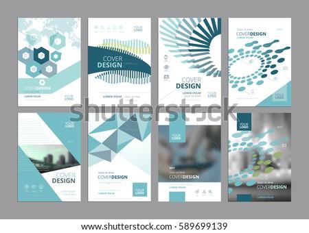 Paper Ad Design Templates | Set Modern Business Paper Design Templates Imagem Vetorial De