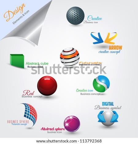 Set of modern design elements. Vector - stock vector