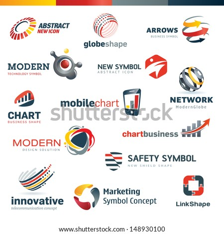 Set of modern designed icons - stock vector