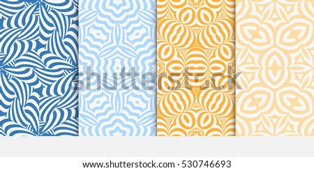 Set modern geometric seamless pattern background stock vector set of modern geometric seamless pattern background decorative texture for wallpaper invitation vector stopboris Choice Image