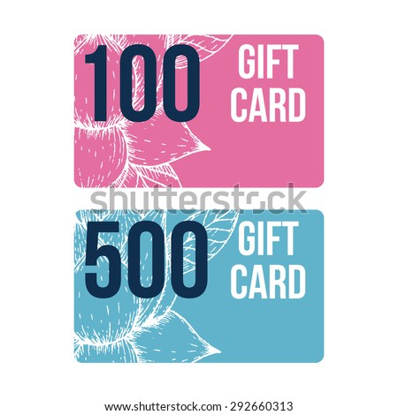 Gift card template stock images royalty free images vectors set of modern gift card templates negle Gallery