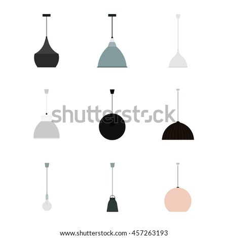 Set of Modern Lamps