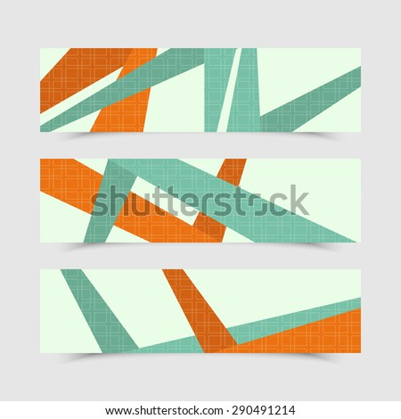 Set of modern vector banners. Abstract background - stock vector