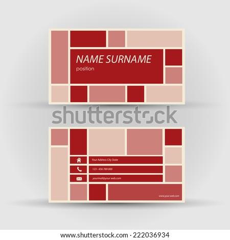 Set of modern vector business card template - stock vector