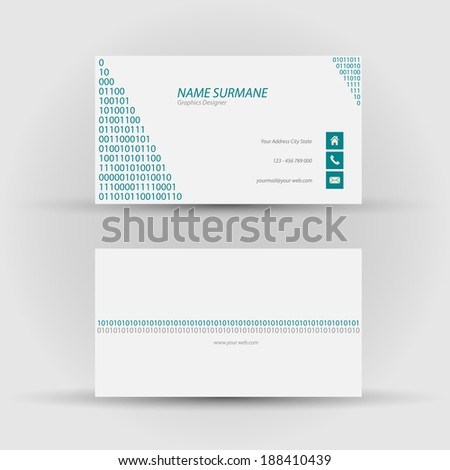 Set modern vector business card template stock vector 188410439 set of modern vector business card template front and back side colourmoves