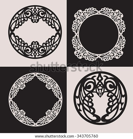 Set of modernist style ornaments. Illustration, vector  - stock vector