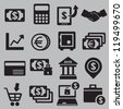 Set of money icons - vector icons - stock vector