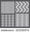 Set of 4 monochrome elegant seamless patterns - stock vector